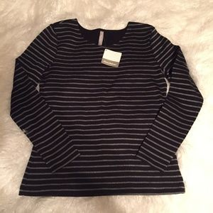 NWT Hanna Andersson L/S Stripe Tee Small